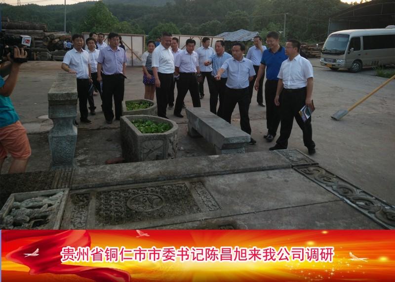 贵州省铜仁市市委书记陈昌旭来我公司调研